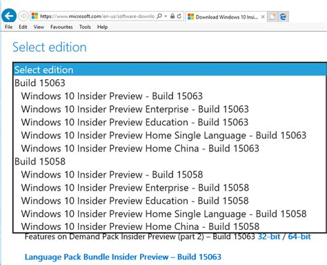 Insider build 15063 ISO file is now available