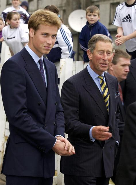 Prince William smiled alongside his father, Prince Charles