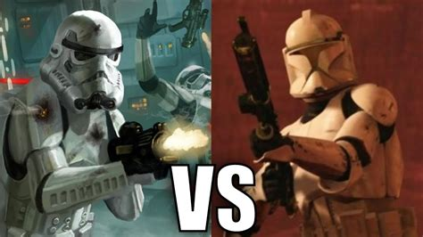 Stormtroopers vs Clone Troopers (Phase 1) - YouTube