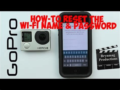 Solved: How do I change or reset my wifi password? - GOPRO