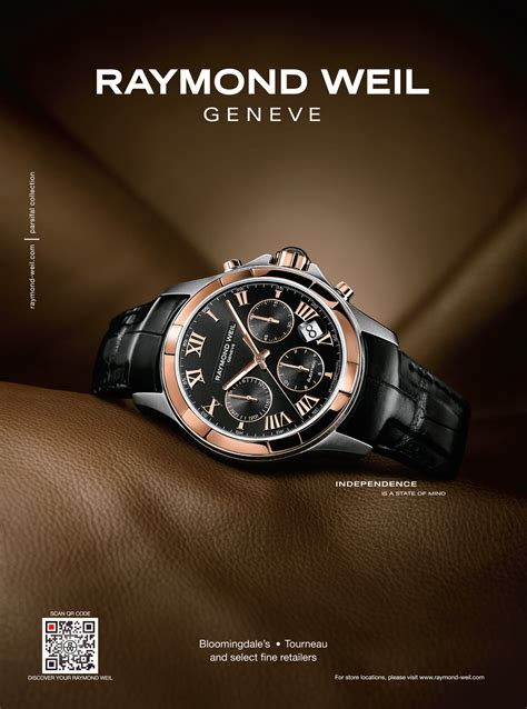 Raymond Weil Exploits New Trend in Print Advertising