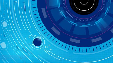 Detailed vector tech cyber illustrated lineart in blue