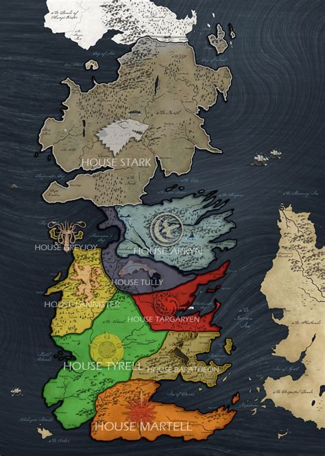 Westeros map | Game of thrones westeros, Got game of