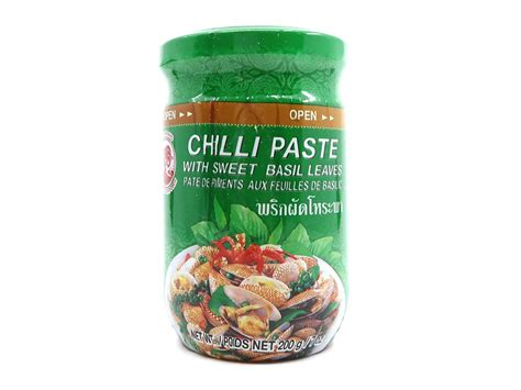 Cock Brand Chilli Paste with Sweet Basil Leaves 200g THA