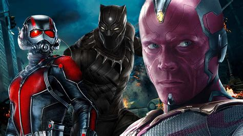 Vision, Ant-Man, War Machine and Thunderbolt Ross in