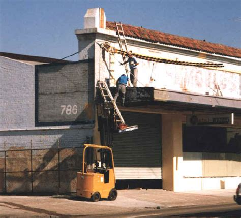 Safety at Work: Forklift and Two Ladders
