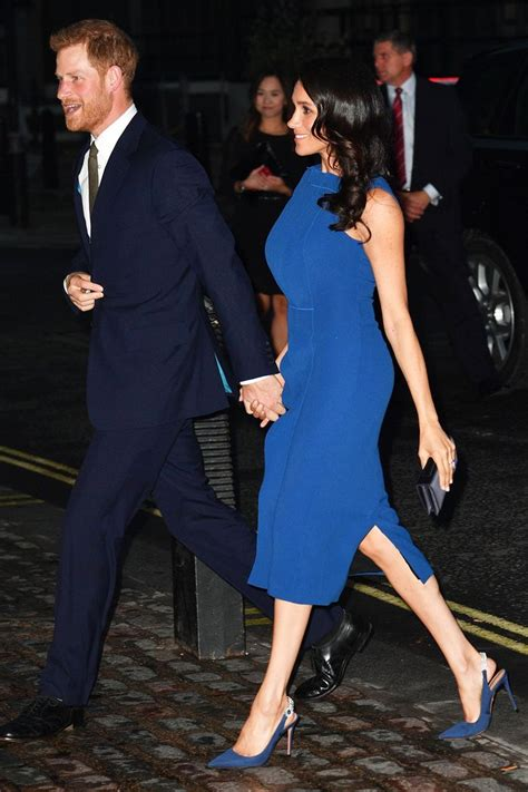 Meghan Markle Wore a Blue Dress and Sparkly Heels | Who