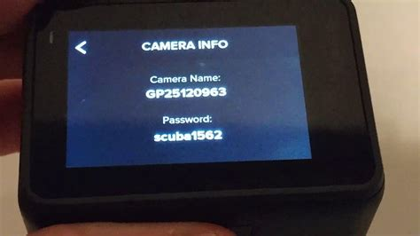 How To Find The WiFi Name And Password At The GoPro Hero 7