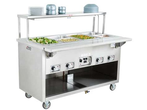 """Hot Food Counter, 4 Well 60"""" Length - J712A"""