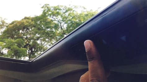 Webasto H300 Deluxe Large Sunroof in my car - YouTube